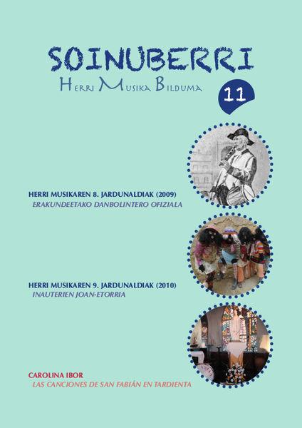 Soinuberri HMB, 11 aldizkariaren azala